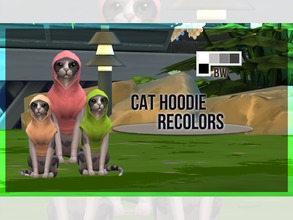 Sims 4 — Cat Hoodie Recolor BW by mayrez — This is the Cats and Dogs hoodie for cats recolored. Pick and choose as many