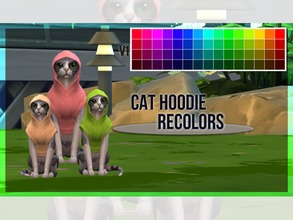 Sims 4 — Cat Hoodie Recolor V1 by mayrez — This is the Cats and Dogs hoodie for cats recolored. Pick and choose as many