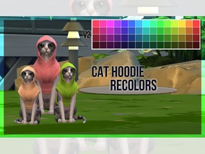 Sims 4 — Cat Hoodie Recolor V2 by mayrez — This is the Cats and Dogs hoodie for cats recolored. Pick and choose as many