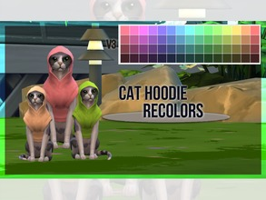 Sims 4 — Cat Hoodie Recolor V3 by mayrez — This is the Cats and Dogs hoodie for cats recolored. Pick and choose as many