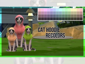 Sims 4 — Cat Hoodie Recolor V4 by mayrez — This is the Cats and Dogs hoodie for cats recolored. Pick and choose as many