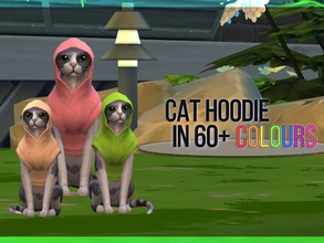 Sims 4 — Cat Hoodie Recolor by mayrez — This is the Cats and Dogs hoodie for cats recolored. Pick and choose as many