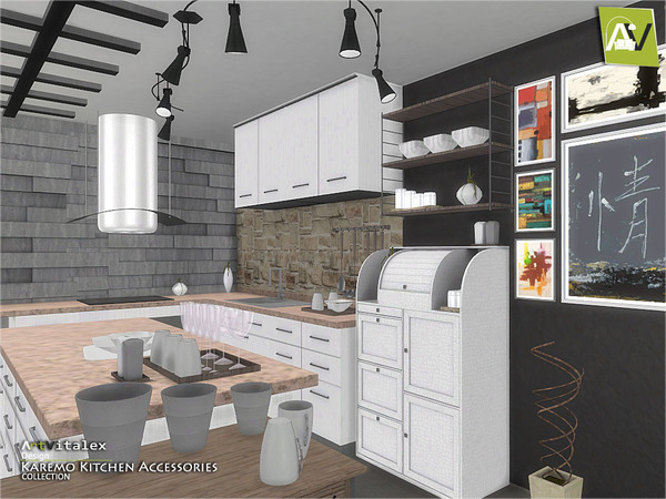 Artvitalex 39 s karemo kitchen accessories for Kitchen designs bloxburg