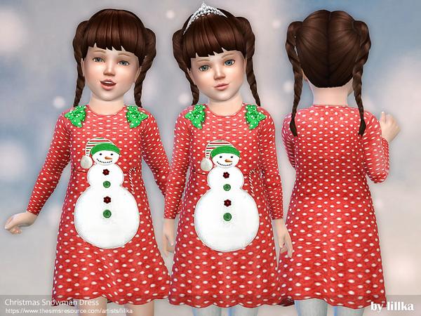 Christmas Snowman Dress