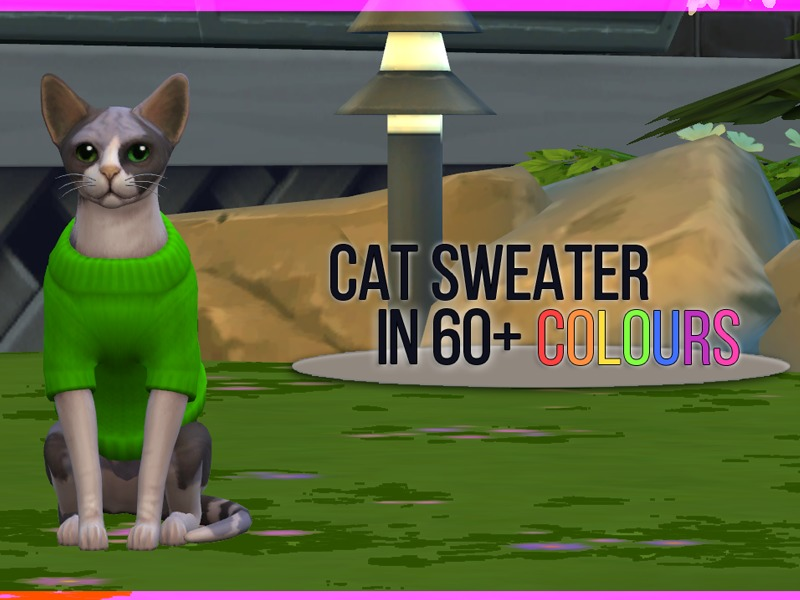 Sims  Cat And Dogs Sweater Recolor