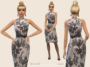 Sims 4 — Silk&Lace by Paogae — Elegant and classic dress, delicate silk and lace, to be wonderful always. Categories: