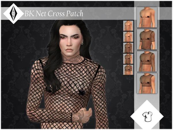 BK Net Cross Patch Top