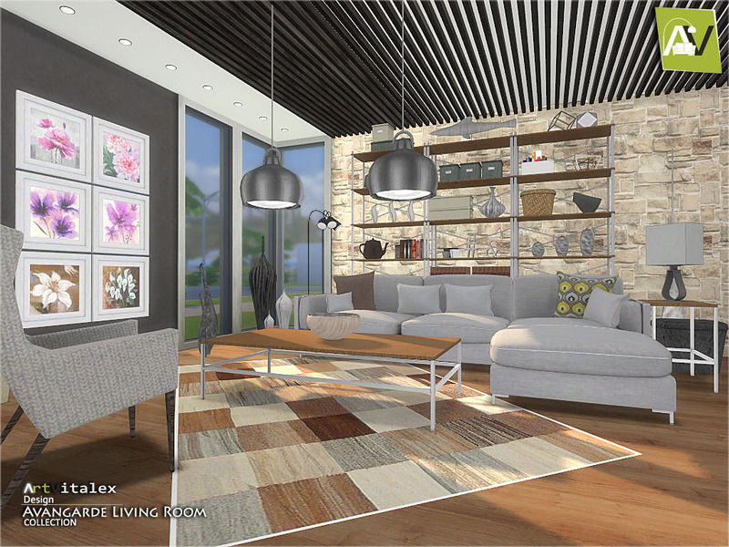 Artvitalex 39 s avangarde living room for Living room ideas sims 3