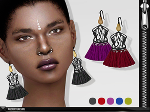 Sims 4 — MFS Rosie Earrings by MissFortune — New Mesh - Standalone - 5 Colors - Custom thumbnail