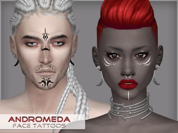 Andromeda   face tattoos