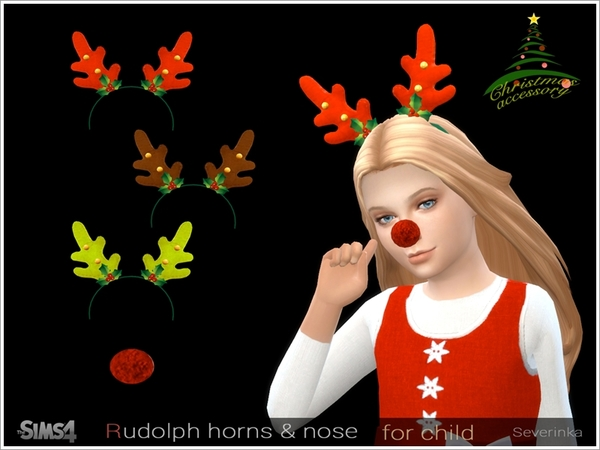 Rudolph horns and nose CM/CF