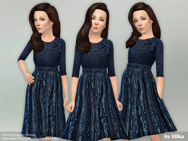Knitted Sequin Dress