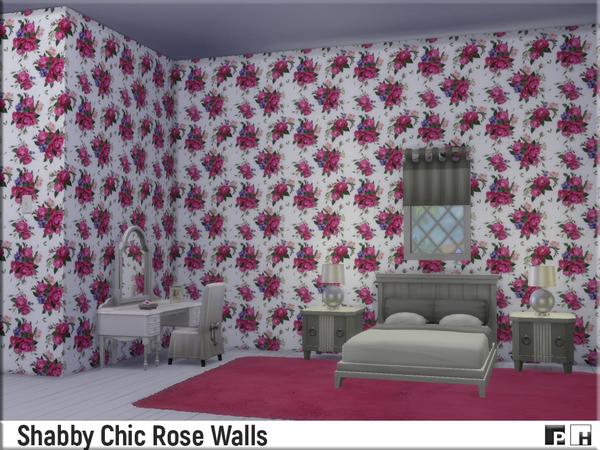 Shabby Chic Rose Walls