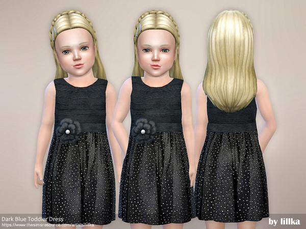 Dark Blue Toddler Dress