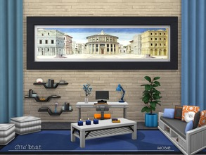 Sims 4 —  by Paogae — The Ideal City is a tempera painting of unknown author, maybe Piero della Francesca, Luciano