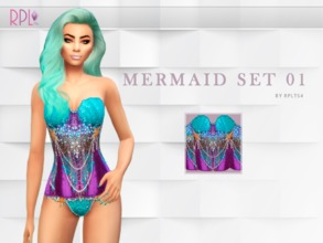 Sims 4 — Mermaid 01 Corset by RobertaPLobo — Mermaid Corset Found in: Everyday,Formal,Sleep,Party and Swimwear. (Blouse
