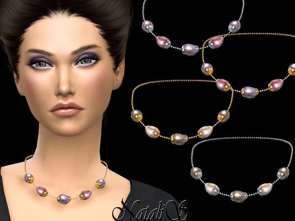 NataliS Baroque pearl chain