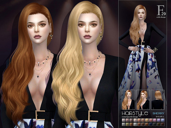 sclub ts4 hair Sherry n29