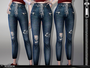 Sims 4 — MFS Coco Jeans by MissFortune — Standalone - 6 Colors - Custom thumbnail