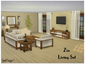 Sims 4 — Zia Living Set by RightHearted — An classical living room set with antique, cozy furnitures. Your sims can lie