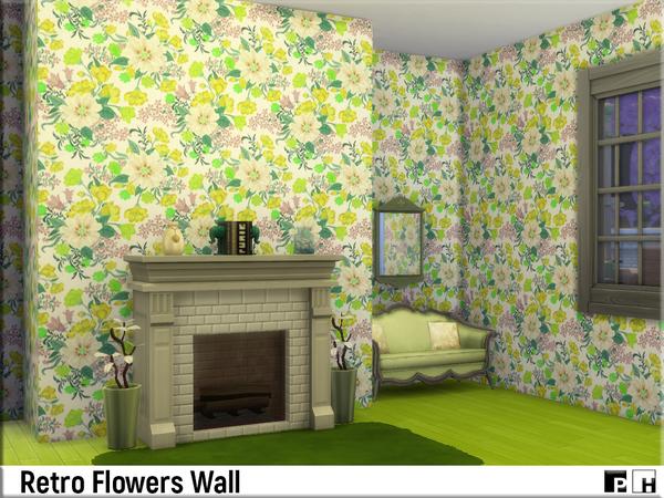 Retro Flower Walls