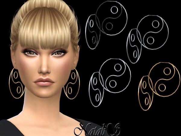 NataliS Yin Yang Hoop Earrings