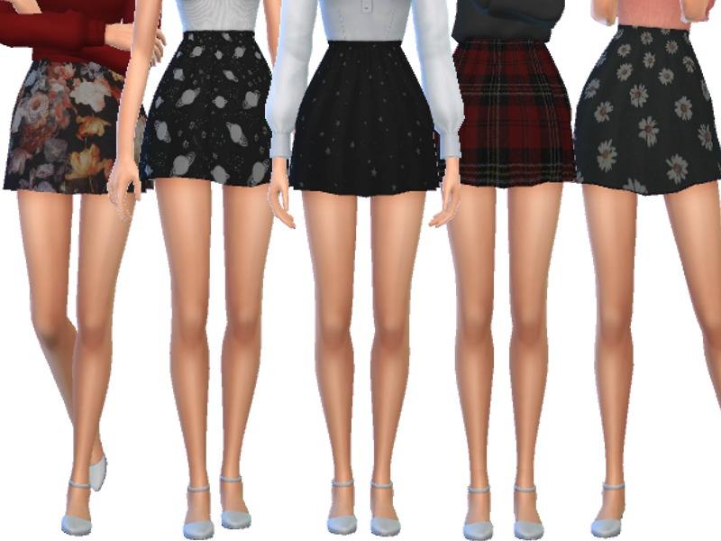 Wicked_Kittie's Tumblr Themed Skater Skirts- Mesh Needed  Mini