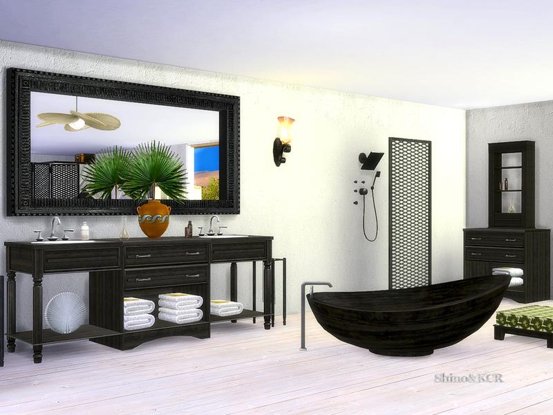 Bathroom caribbean the sims 4 download simsdom for Bathroom ideas sims 4