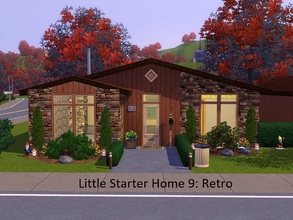 Sims 3 — Little Starter Home 9 Retro by Jujubee77 — One bedroom, one bathroom that's simply groovy.