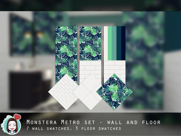 Monstera Metro Set