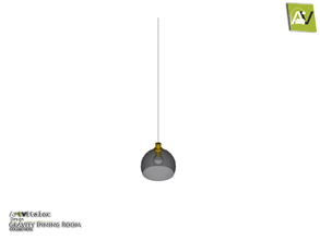 Sims 3 — Gravity Ceiling Lamp Small Drop by ArtVitalex — - Gravity Ceiling Lamp Small Drop - ArtVitalex@TSR, Jan 2018