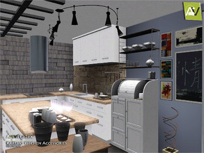 Sims 3 — Karemo Kitchen Accessories by ArtVitalex — - Karemo Kitchen Accessories - ArtVitalex@TSR, Nov 2016 - All objects