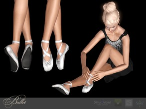 Sims 3 — Pointe by Shushilda2 — Classic pointe shoes - new mesh - 3 recolorable channels - CAS and Launcher icons