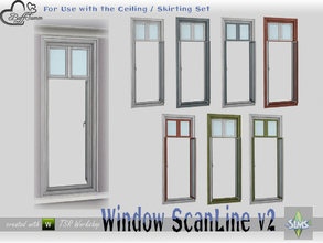 Sims 4 — WindowSet ScanLine Full 1x1 v2 ceiling open by BuffSumm — Part of the *Window Set ScanLine* Created by BuffSumm