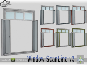 Sims 4 — WindowSet ScanLine Full 2x1 v2 open by BuffSumm — Part of the *Window Set ScanLine* Created by BuffSumm @ TSR