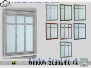 Sims 4 — WindowSet ScanLine Full 2x1 v2 ceiling by BuffSumm — Part of the *Window Set ScanLine* Created by BuffSumm @ TSR