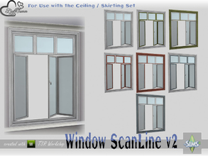 Sims 4 — WindowSet ScanLine Full 2x1 v2 ceiling open by BuffSumm — Part of the *Window Set ScanLine* Created by BuffSumm