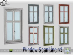 Sims 4 — WindowSet ScanLine Single 1x1 v2 by BuffSumm — Part of the *Window Set ScanLine* Created by BuffSumm @ TSR