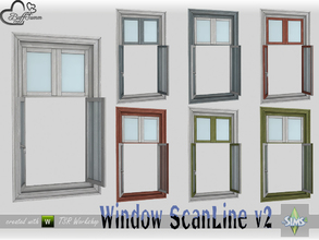 Sims 4 — WindowSet ScanLine Single 1x1 v2 open by BuffSumm — Part of the *Window Set ScanLine* Created by BuffSumm @ TSR