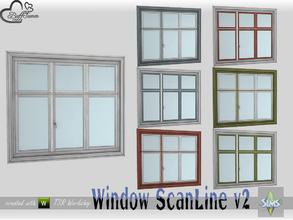 Sims 4 — WindowSet ScanLine Single 2x1 v2 by BuffSumm — Part of the *Window Set ScanLine* Created by BuffSumm @ TSR