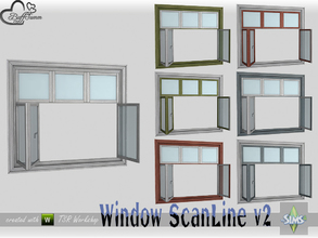 Sims 4 — WindowSet ScanLine Single 2x1 v2 open by BuffSumm — Part of the *Window Set ScanLine* Created by BuffSumm @ TSR