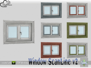 Sims 4 — WindowSet ScanLine Privacy 1x1 v2 by BuffSumm — Part of the *Window Set ScanLine* Created by BuffSumm @ TSR