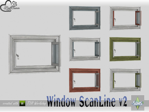 Sims 4 — WindowSet ScanLine Privacy 1x1 v2 open by BuffSumm — Part of the *Window Set ScanLine* Created by BuffSumm @ TSR