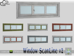 Sims 4 — WindowSet ScanLine Privacy 2x1 v2 by BuffSumm — Part of the *Window Set ScanLine* Created by BuffSumm @ TSR