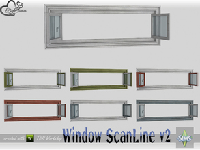 Sims 4 — WindowSet ScanLine Privacy 2x1 v2 open by BuffSumm — Part of the *Window Set ScanLine* Created by BuffSumm @ TSR