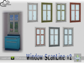 Sims 4 — WindowSet ScanLine Counter 1x1 v2 by BuffSumm — Part of the *Window Set ScanLine* Created by BuffSumm @ TSR