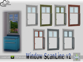 Sims 4 — WindowSet ScanLine Counter 1x1 v2 open by BuffSumm — Part of the *Window Set ScanLine* Created by BuffSumm @ TSR