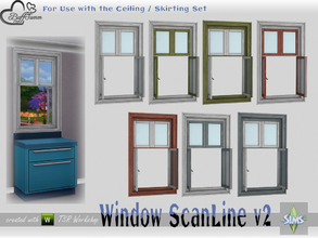 Sims 4 — WindowSet ScanLine Counter 1x1 v2 ceiling open by BuffSumm — Part of the *Window Set ScanLine* Created by