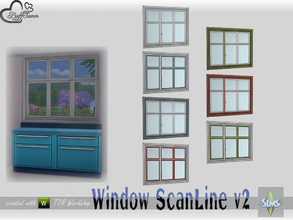 Sims 4 — WindowSet ScanLine Counter 2x1 v2 by BuffSumm — Part of the *Window Set ScanLine* Created by BuffSumm @ TSR