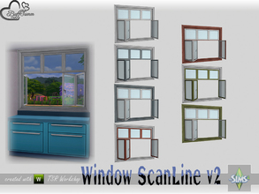 Sims 4 — WindowSet ScanLine Counter 2x1 v2 open by BuffSumm — Part of the *Window Set ScanLine* Created by BuffSumm @ TSR